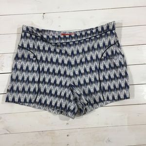 LIKE NEW ANTHROPOLOGIE Geo Print Shorts - Size 14